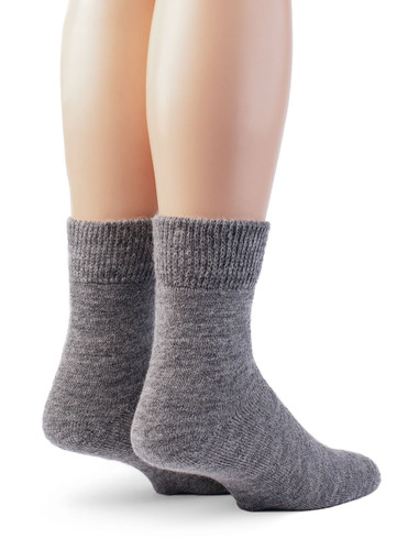 Outdoor Terry Lined Ankle Alpaca Wool Socks - Unisex Back View