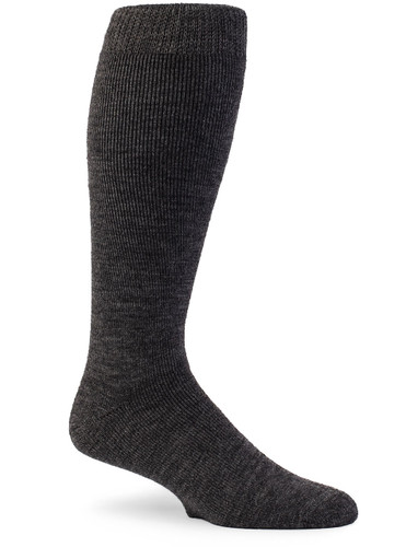 Outdoor Terry Lined Over-the-Calf Alpaca Sock Side View