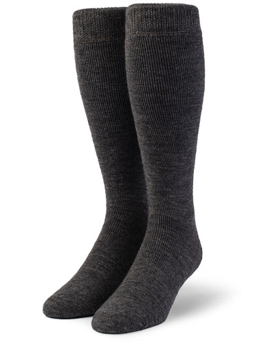 Outdoor Terry Lined Over-the-Calf Alpaca Sock - Unisex Front View