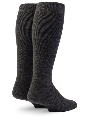 Outdoor Terry Lined Over-the-Calf Alpaca Sock Back View