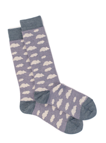 Women's Cloudy Day Baby Alpaca and Bamboo Dress Sock Flat View