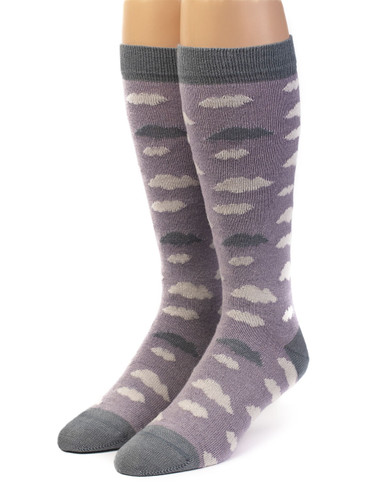Women's Cloudy Day Baby Alpaca and Bamboo Dress Sock Front View