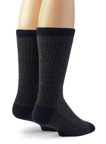 Warrior Alpaca Wool Compression Work Socks - Unisex Back View