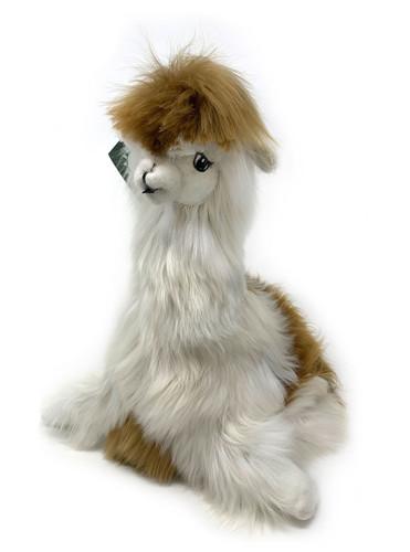 Suri Alpaca Plush Pillow Soft Stuffed Animal Made from real alpaca fur - Multi front