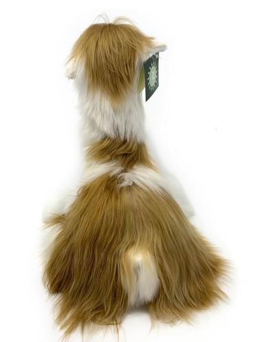 Suri Alpaca Plush Pillow Soft Stuffed Animal Made from real alpaca fur - Multi back