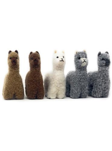 Alpaca Wool Needle Felted Alpaca Figures by Warrior Alpaca Socks