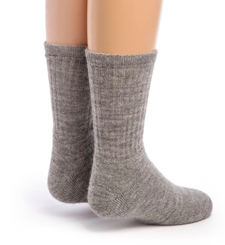 Kid's Outdoor Alpaca Socks Back