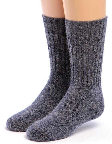 Kid's Superfine Alpaca Socks Denim Front
