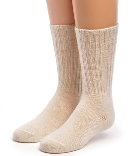 Kid's Superfine Alpaca Socks Natural Front