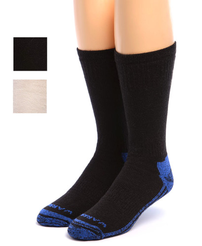 High Performance Crew Athletic Socks Black Front with color swatches
