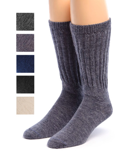 Therapeutic Alpaca Socks Front Showing color options