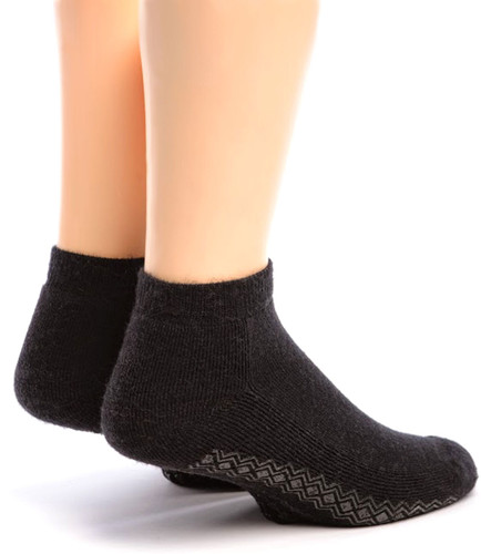 "Non Skid ""Yoga & More"" Alpaca Socks  Back"