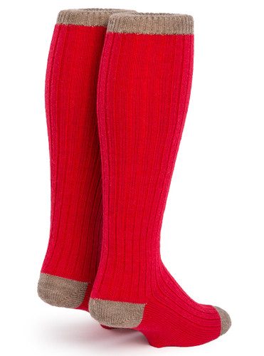 Long John Alpaca Wool Socks - Unisex  Back View