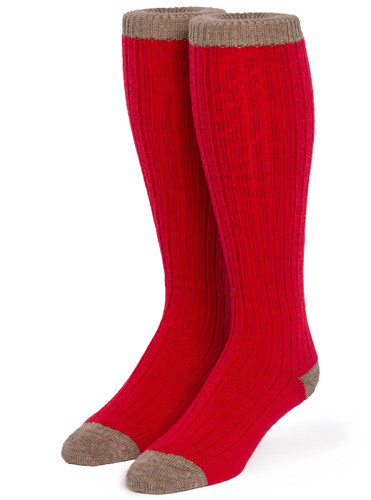 Long John Alpaca Wool Socks - Unisex  Front View