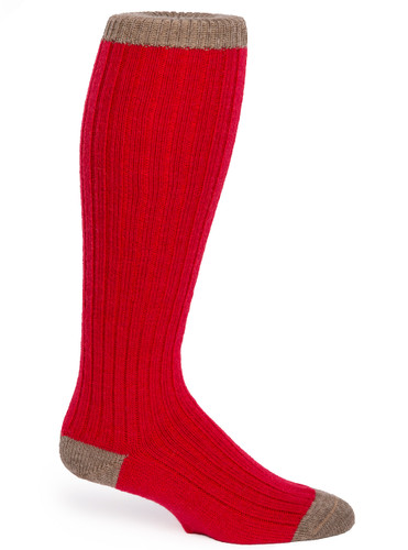 Long John Alpaca Wool Socks - Unisex  Side View