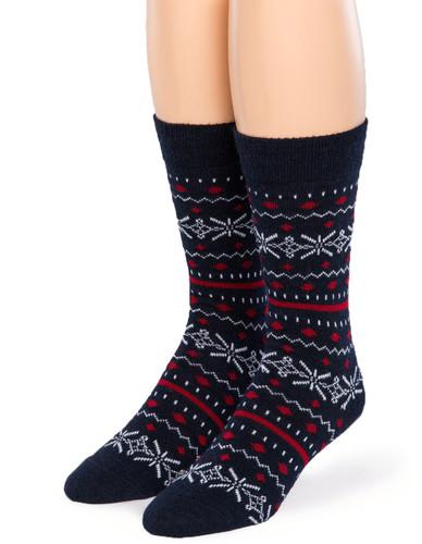 Fair Isle Crew Alpaca Socks - Front