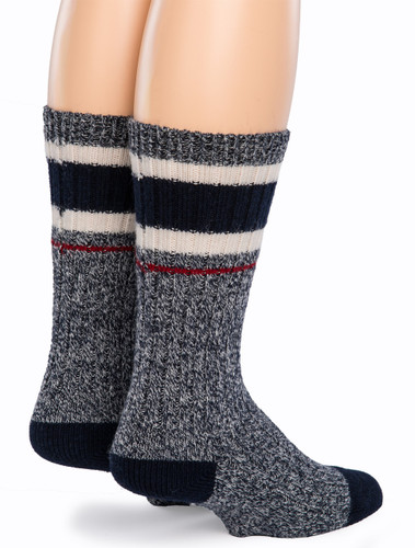 Old School Athletic Striped Socks - Back