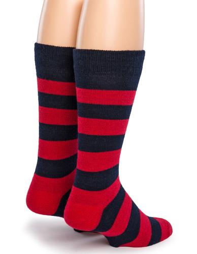 Thick Stripe Crew Alpaca Socks - Back