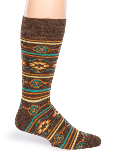 Southwest Alpaca Wool Socks Side View