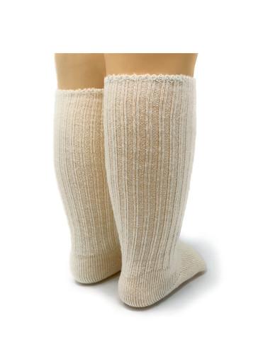 Baby Alpaca Dye-Free Infant & Toddler Socks Back View