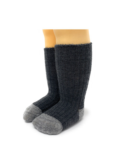 Baby Alpaca Color Block - Dye-Free Infant & Toddler Socks  Front View