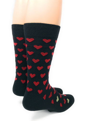 Alpaca Found Hearts Socks Back