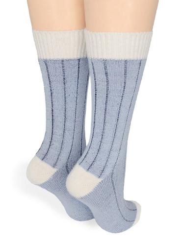 Color Block Baby Alpaca Comfort Socks Back