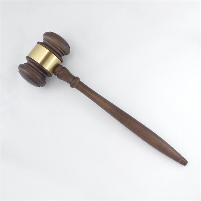 ΤΒΣ Custom-Engraved Wooden Gavel