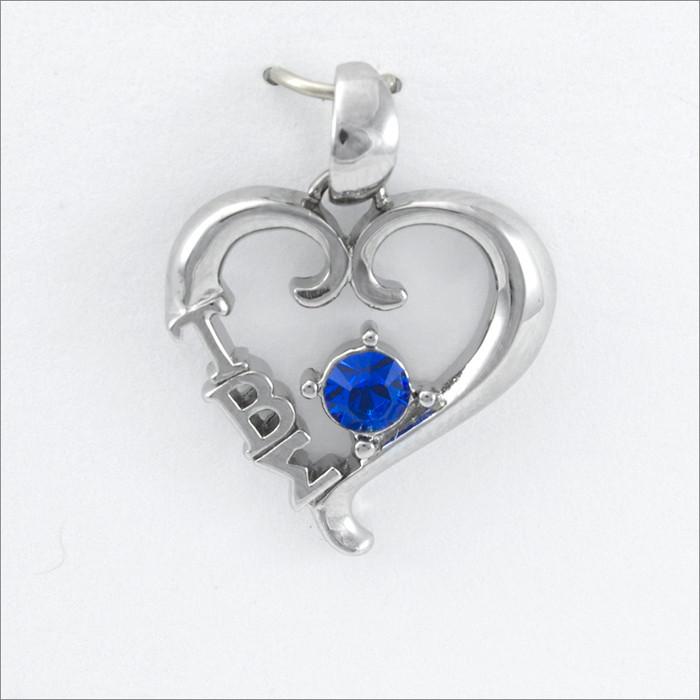 ΤΒΣ Heart Pendant (Blue Stone)