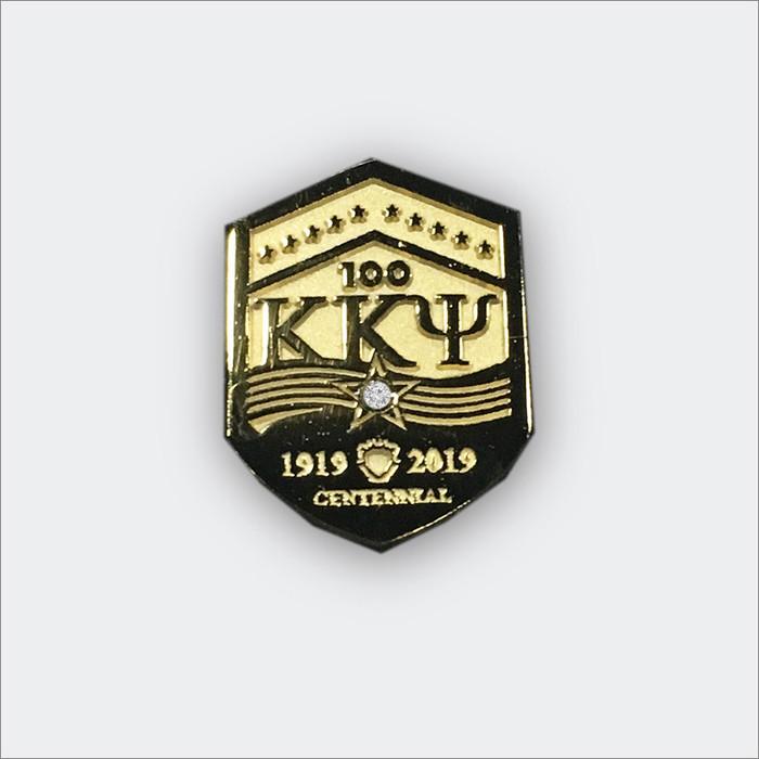 ΚΚΨ Centennial Pin with Cubic Zirconia