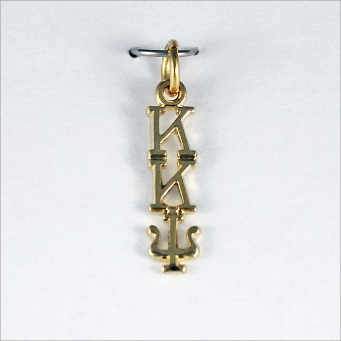 ΚΚΨ Traditional Vertical Letter Lavaliere