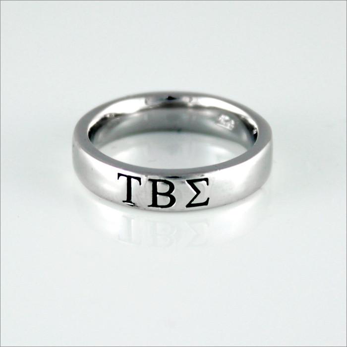 ΤΒΣ Sterling Silver Greek Letter Ring (Thin Band)