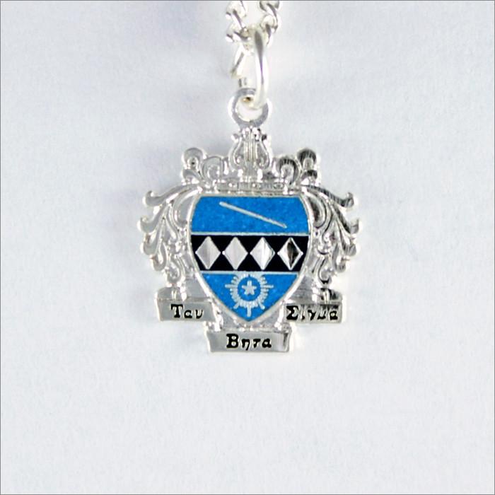 ΤΒΣ Sterling Silver Crest Necklace