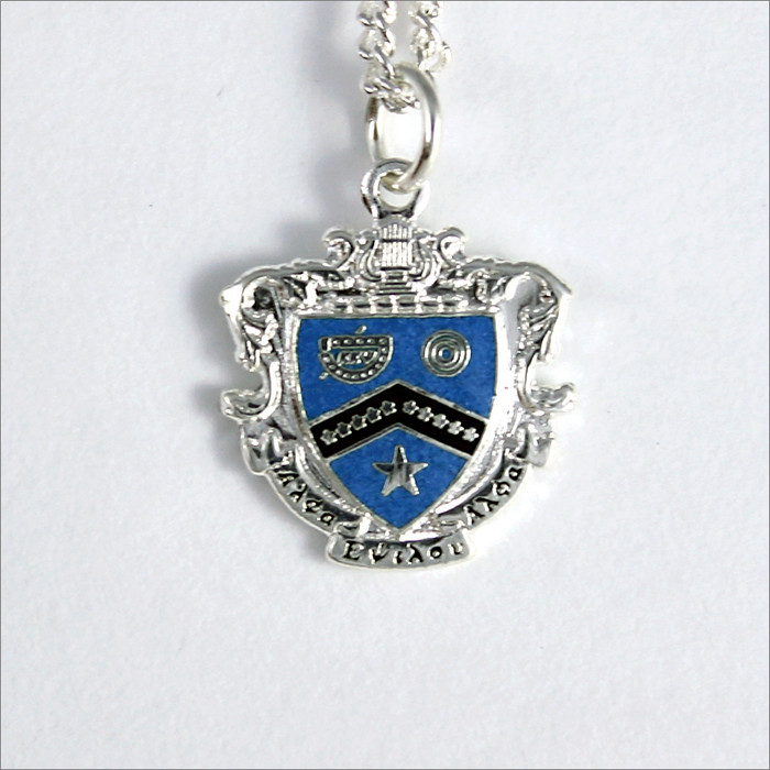 ΚΚΨ Sterling Silver Crest Necklace