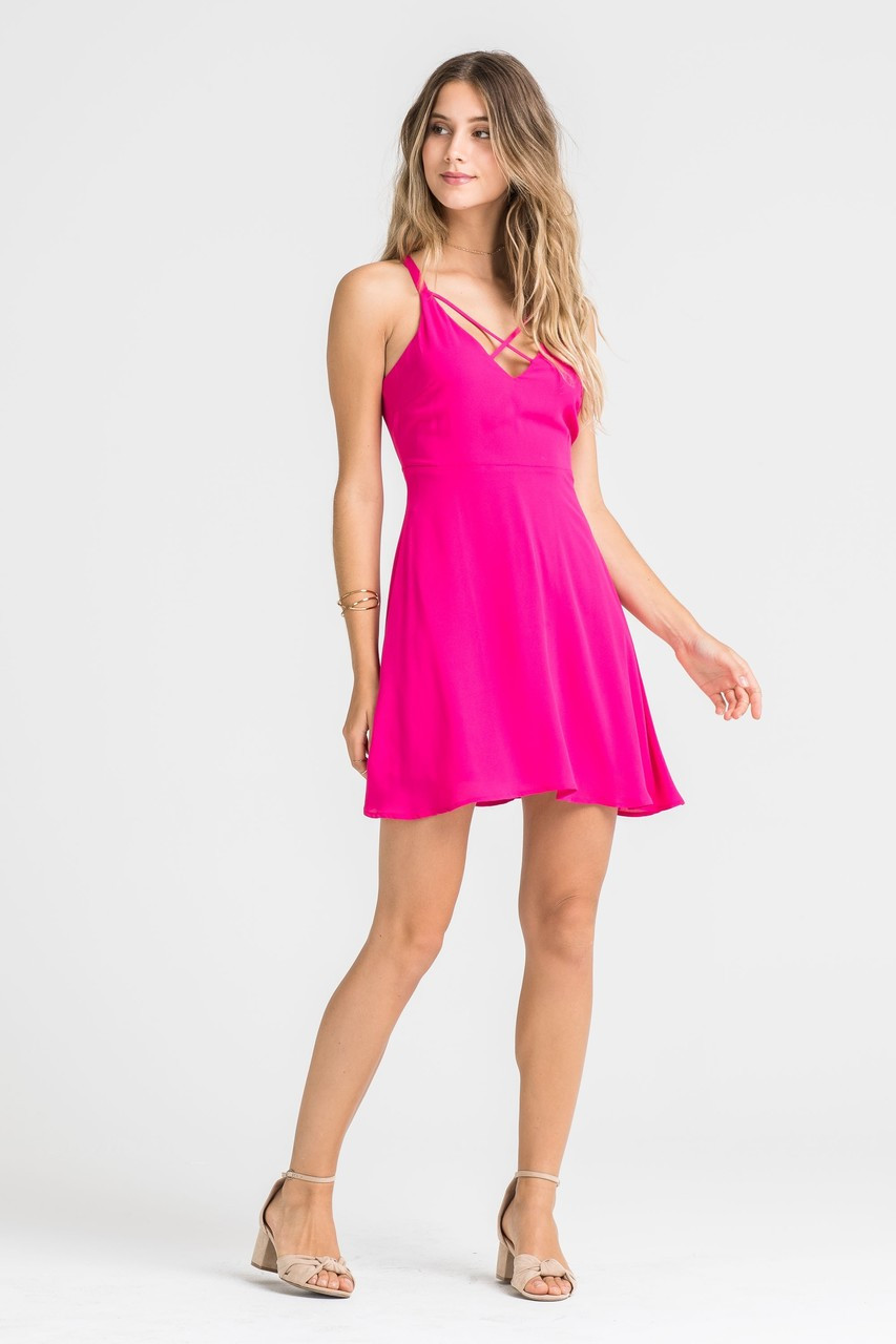 a14aee3018 Pink Fit and Flare Dress - Longhorn Fashions