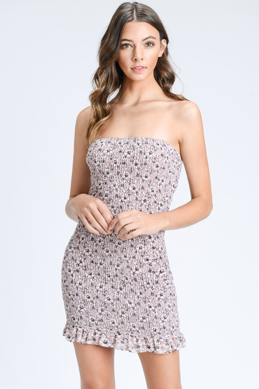bd9fdb519b4e smocked dress. Previous. smocked dress; Mauve Floral Print ...