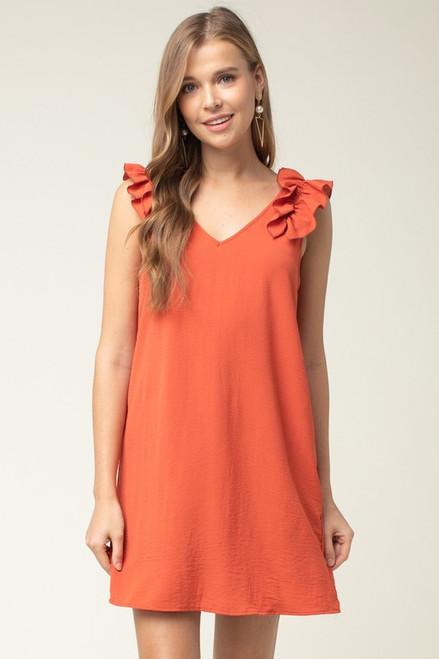 f1f0d1f6aafb Burnt Orange Dress for University of Texas GameDay
