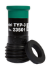 """TYP Contractor Thread Nozzle for Hoses 1-1/4"""" ID x 2-3/32"""" OD"""