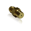 "Brass Adapter, 1/8 inch NPT with 1/16 inch Orifice x 1/4"" MJIC"