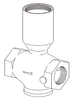 Clemco 1 inch Inlet Valve Body