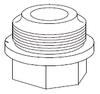 Clemco 1-1/2 inch Inlet Valve Bottom Cap