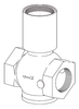 Clemco 1-1/2 inch Inlet Valve Body