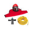 Clemco Apollo 60 HP Supplied Air Respirator with CCAC and 50ft. Air Hose