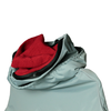 Clemco Apollo 600 Cape, Silver-Grey with Red Inner Collar