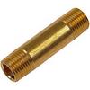 Brass Nipple, 3/8 inch NPT x 2 inch
