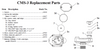 Clemco CMS-3 Sensor Cover Discs, Pack of 10