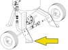 Leg Pad, Right Side for Model 1648 and Model 2452 Blast Pot