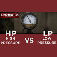 What's the Difference Between an HP and LP Blast Machine Setup?