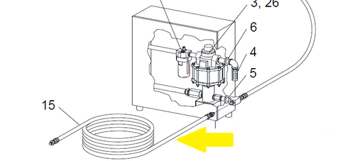 Item Location on WetBlast Flex Pump Module