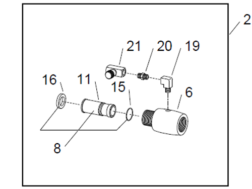 WetBlast Flex Nozzle Adaptor Item Location